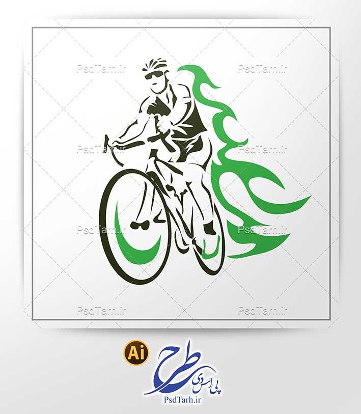 وکتور دوچرخه سوار