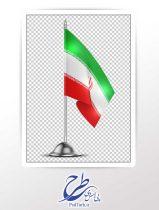دوربری پرچم رومیزی ایران