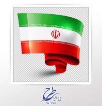 تصویر png پرچم ایران دوربری شده
